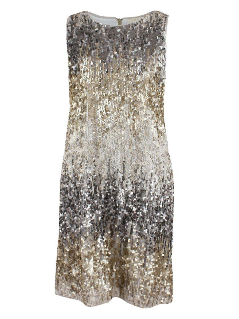 Not Is Not Gold Sequin Detail Dress