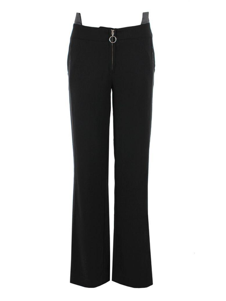 Elisa Cavaletti Black Split Hem Trousers