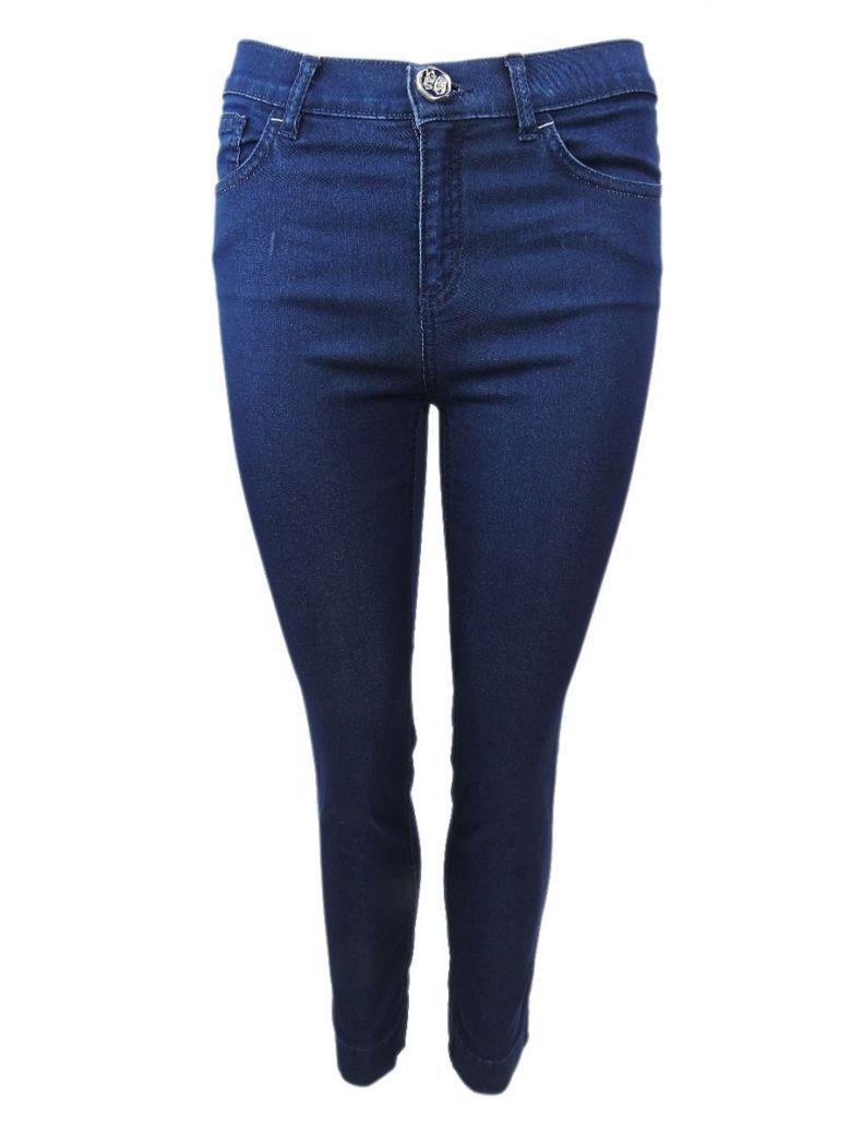 Elisa Cavaletti Dark Blue Denim Cropped Skinny Jeans