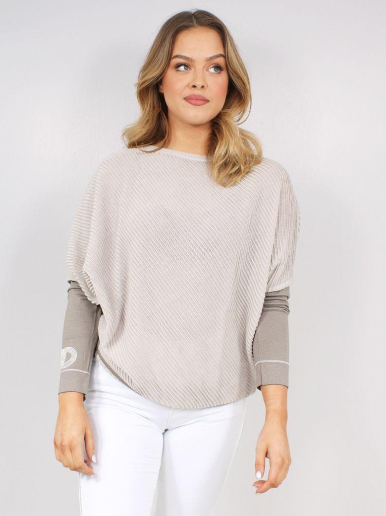 Elisa Cavaletti Ladies Beige Sorriso Strap Sweater