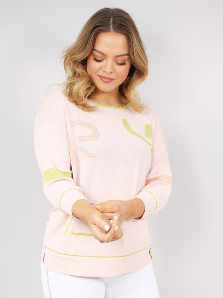 Elisa Cavaletti Ladies Pink Regina Knit Pull Sweater