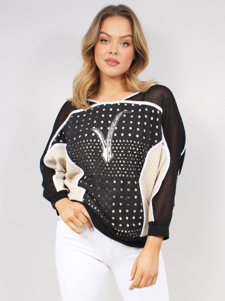 Elisa Cavaletti Ladies Black Sweatshirt