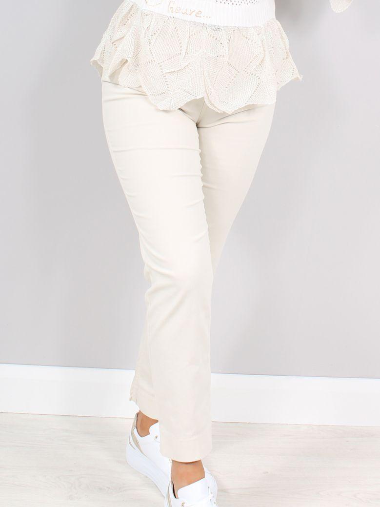 Elisa Cavaletti Beige Radice Embroidered Trousers