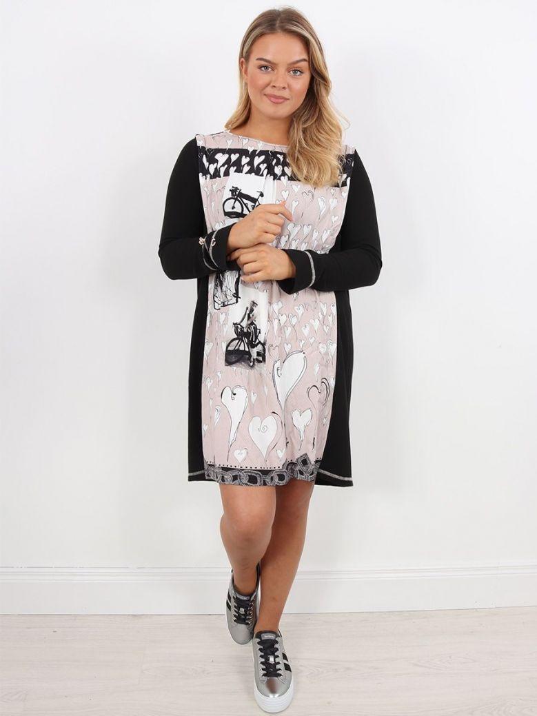 Elisa Cavaletti Abstract Print Tunic Dress Black
