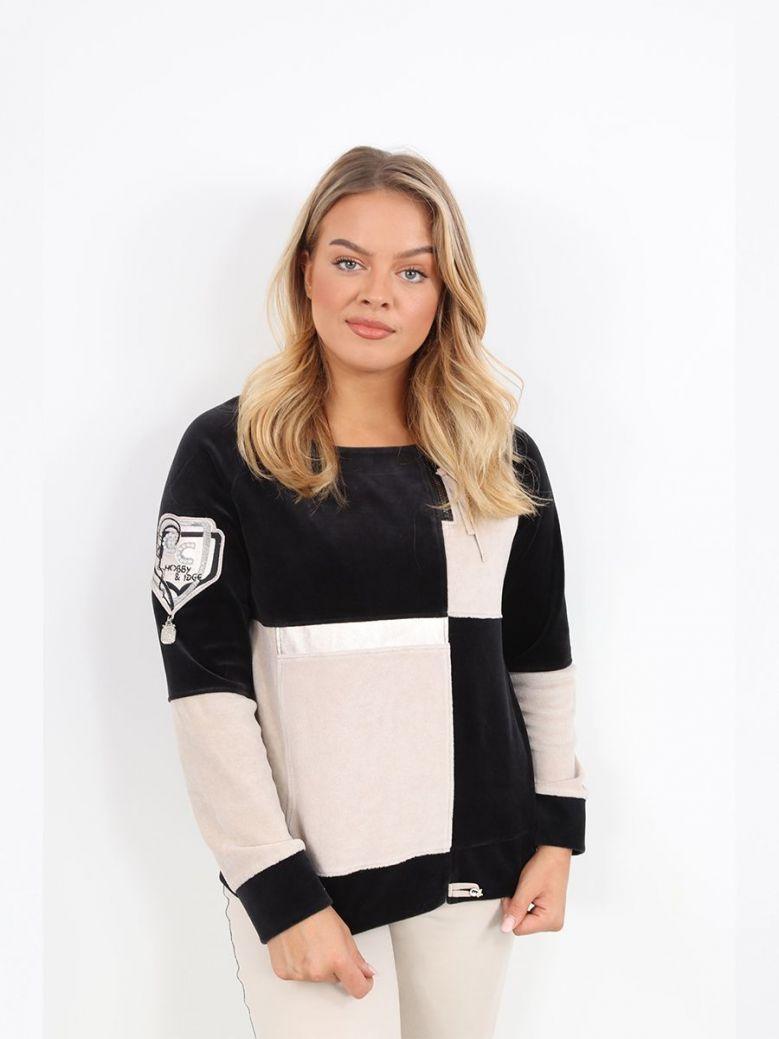 Elisa Cavaletti Colour Block Sweatshirt Black