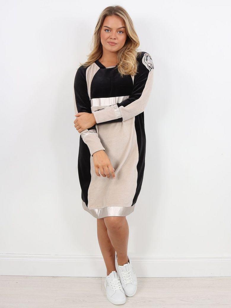 Elisa Cavaletti Long Sleeve Tunic Dress Black
