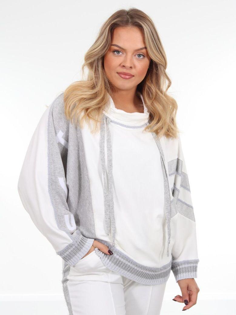 Elisa Cavaletti Roll Neck Sweatshirt Cream