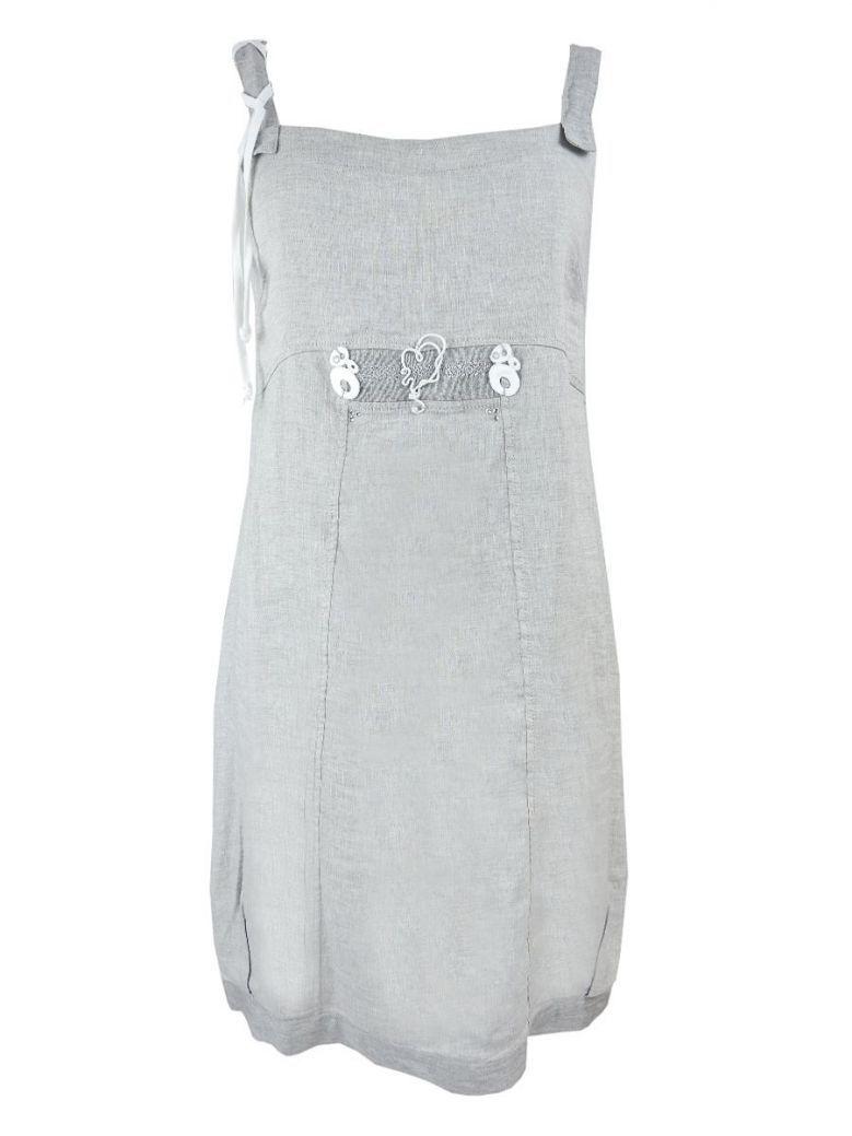 Elisa Cavaletti Grey Sleeveless Tunic Dress