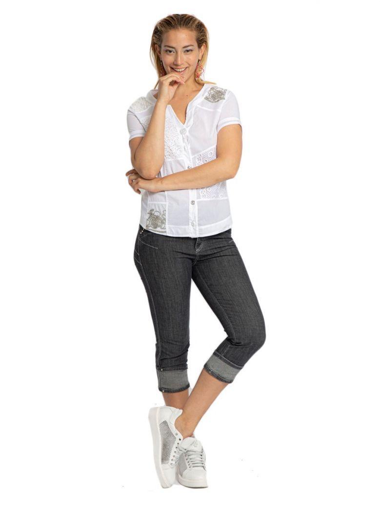 Elisa Cavaletti Denim Nero Cropped Jeans