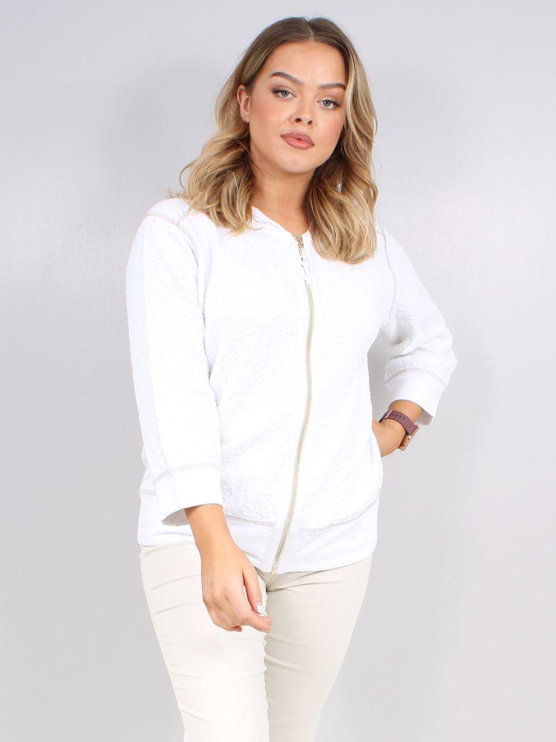 Elisa Cavaletti White Knit Jacket