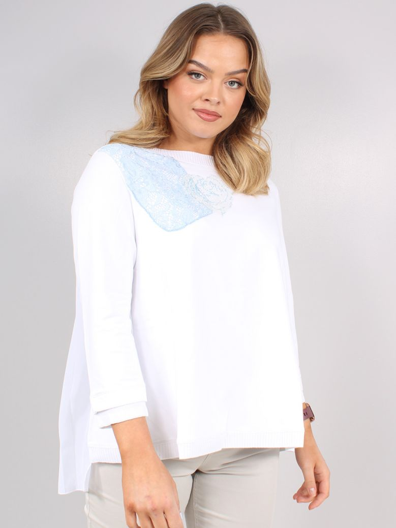 Elisa Cavaletti White Bianco Sguardo Sweatshirt