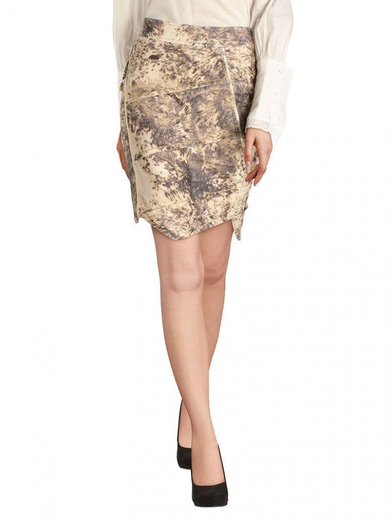 Elisa Cavaletti Cream Asymmetrical Skirt