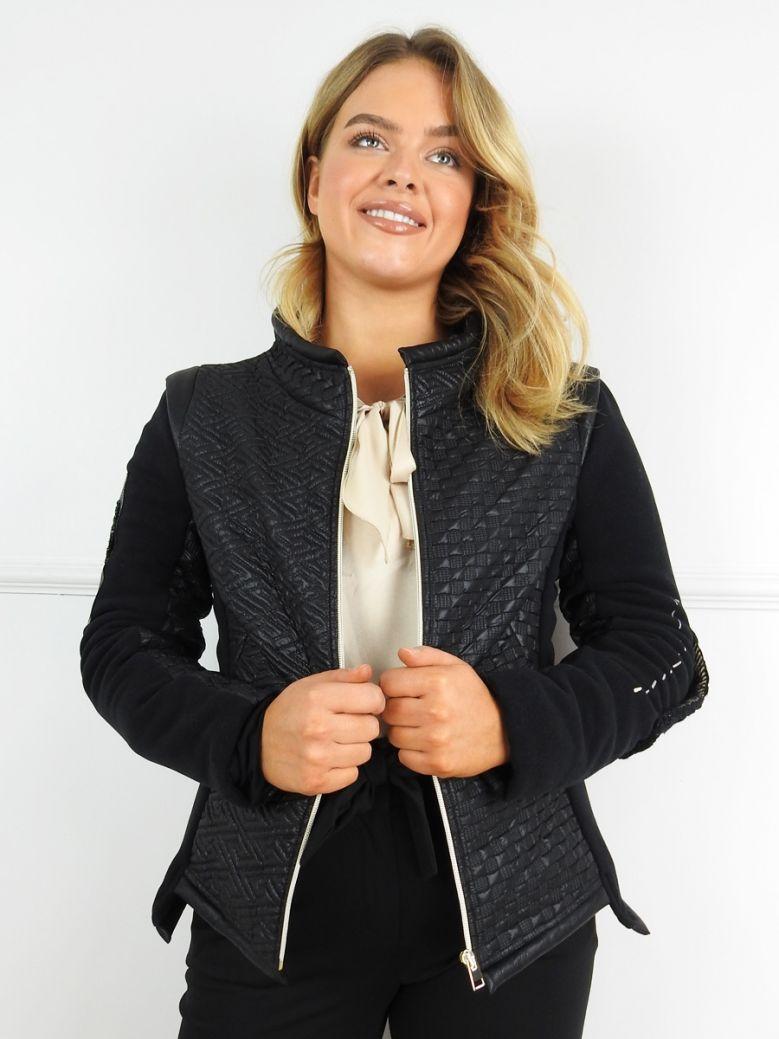 Elisa Cavaletti Black Textured Jacket