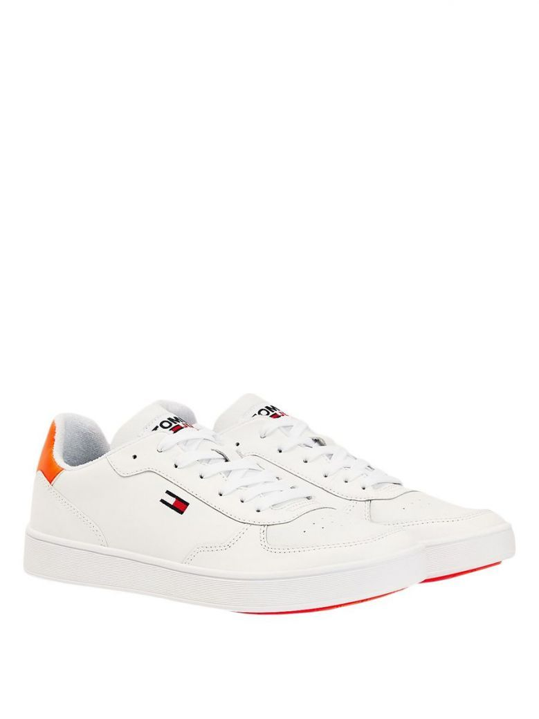 Tommy Jeans Mens White Solar Flare Essential Cupsole Trainer