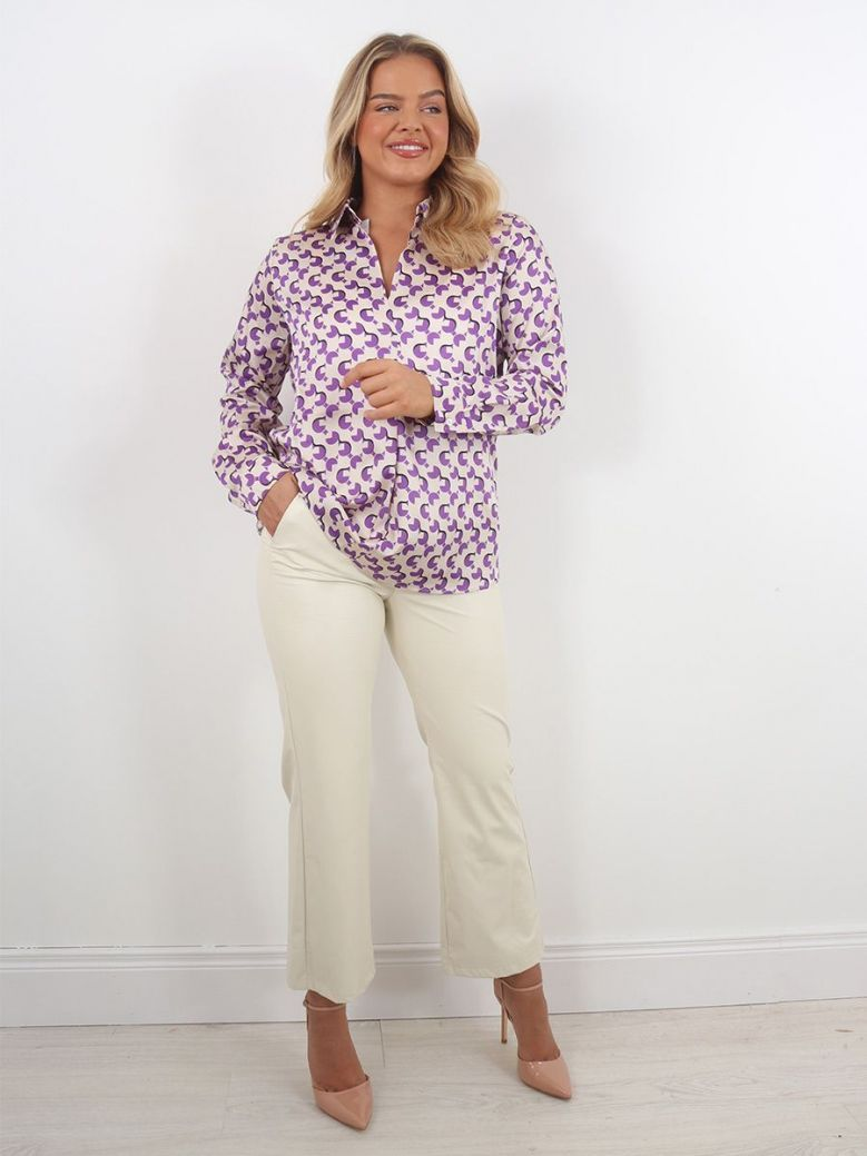 Emme by Marella Cocco Printed Shirt Purple