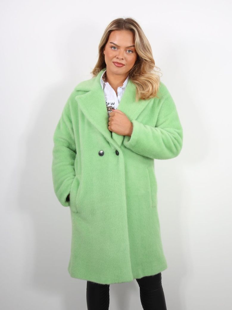 Emme By Marella Jersey Coat Green