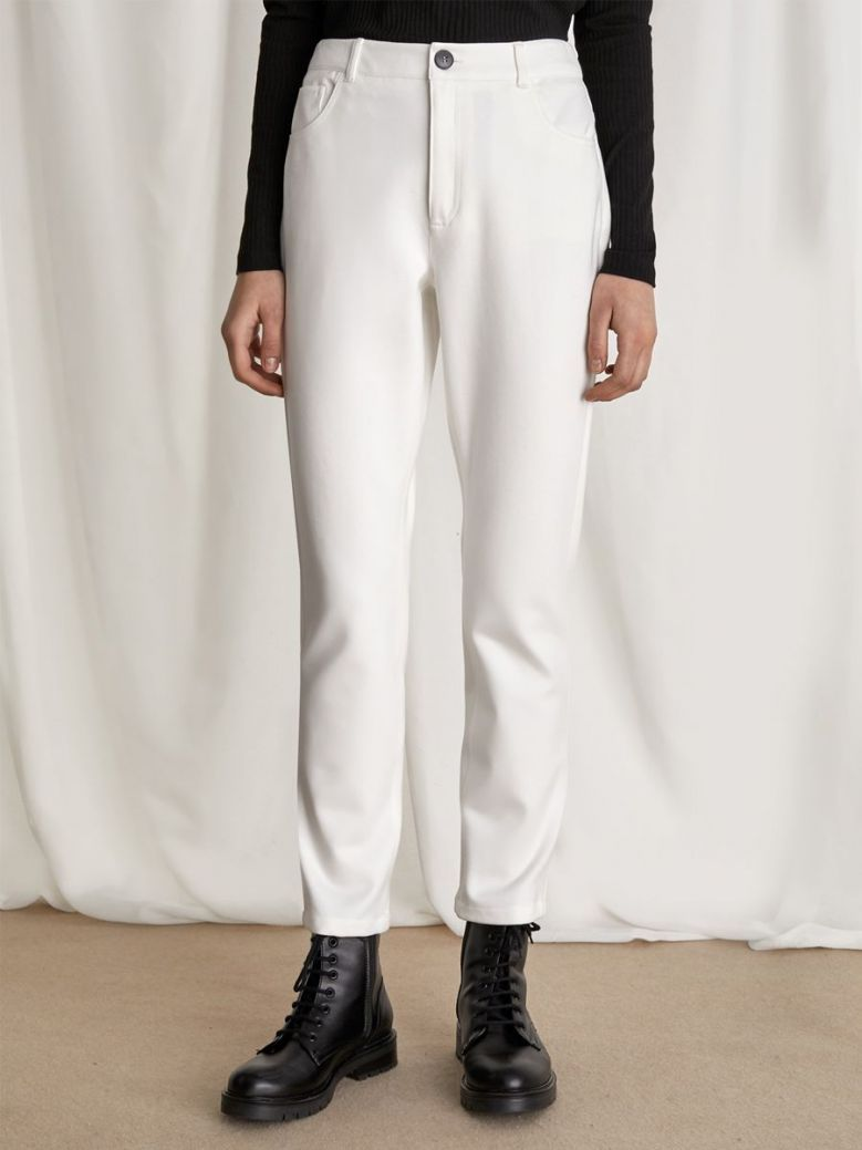 Emme By Marella Jersey Trousers Cream
