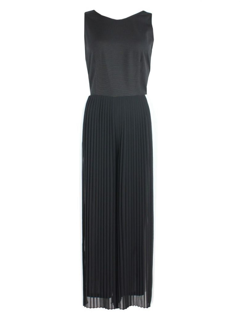 Emme By Marella Pleated Jumpsuit Black and White