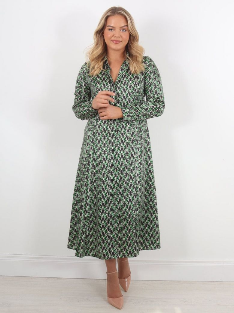 Emme by Marella Scacco Printed Dress Green