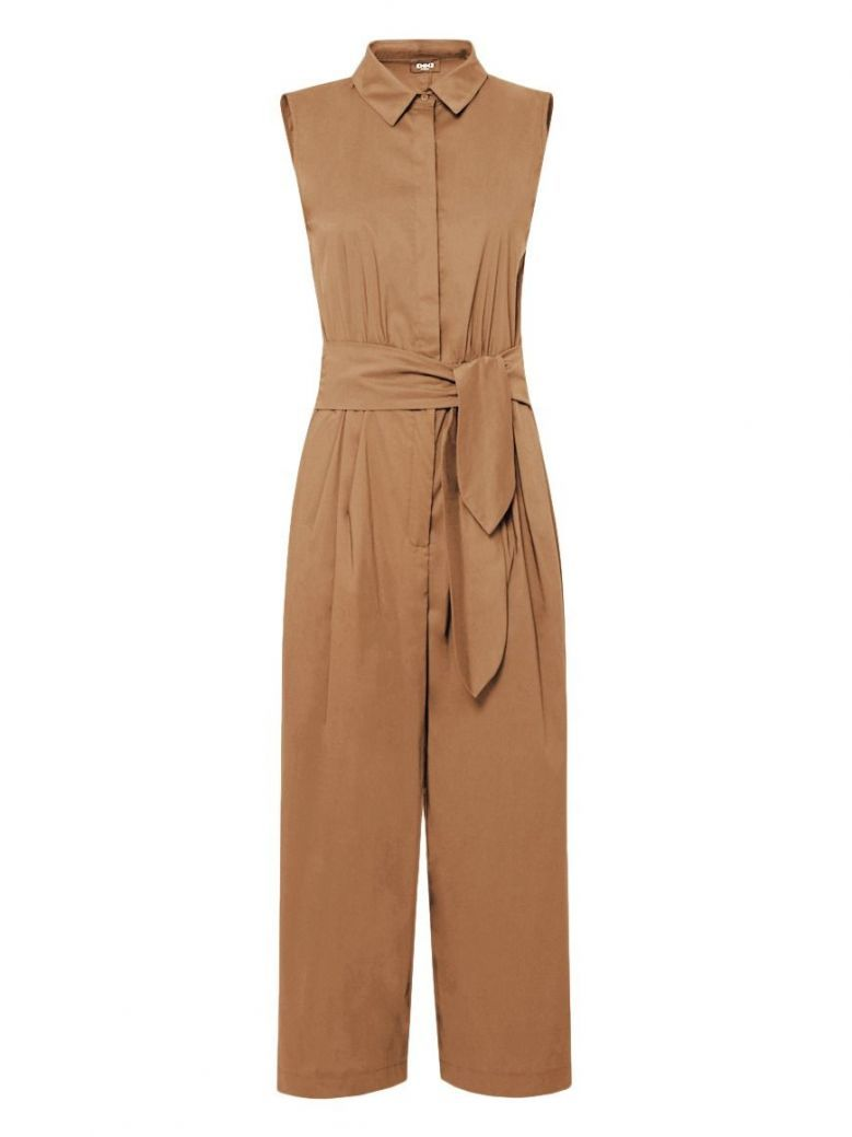 Emme By Marella Sleeveless Culotte Jumpsuit Taupe