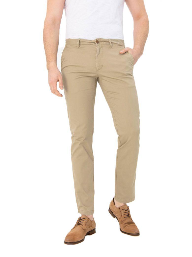 Izod Cedarwood Khaki Slim Stretch Chino Trousers