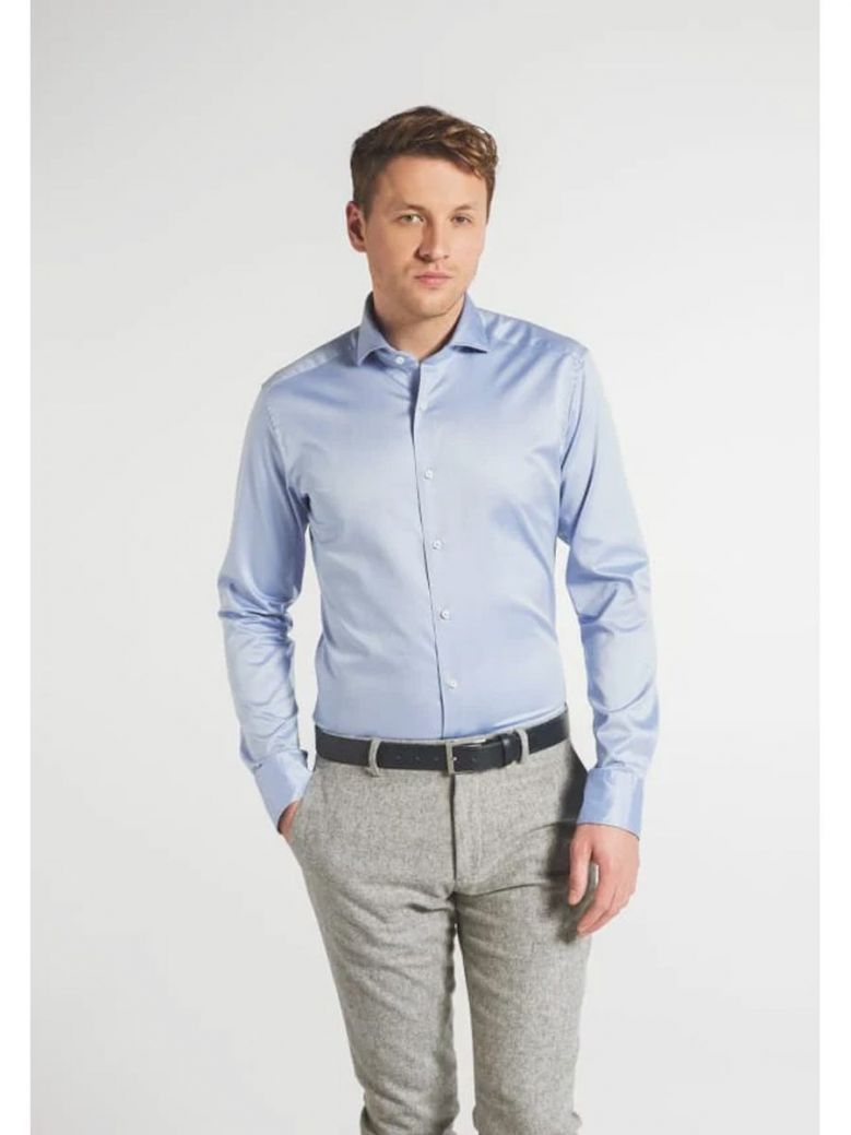 Eterna 1863 Slim Fit Shirt Blue
