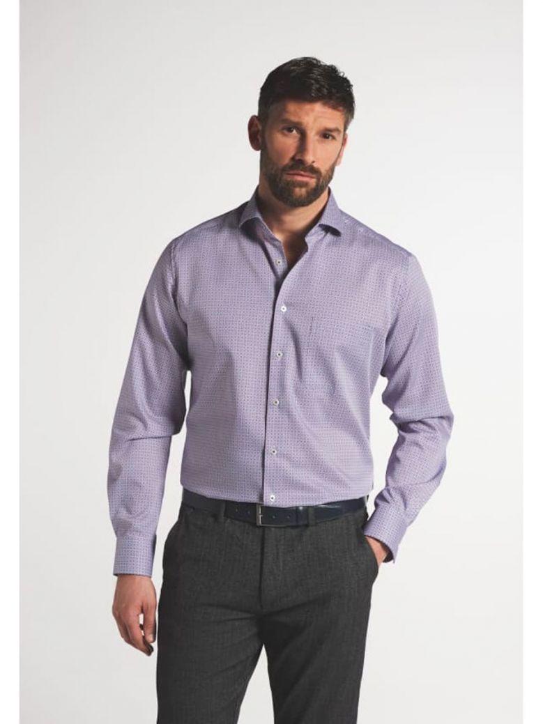 Eterna Modern Fit Printed Shirt Multi-Coloured
