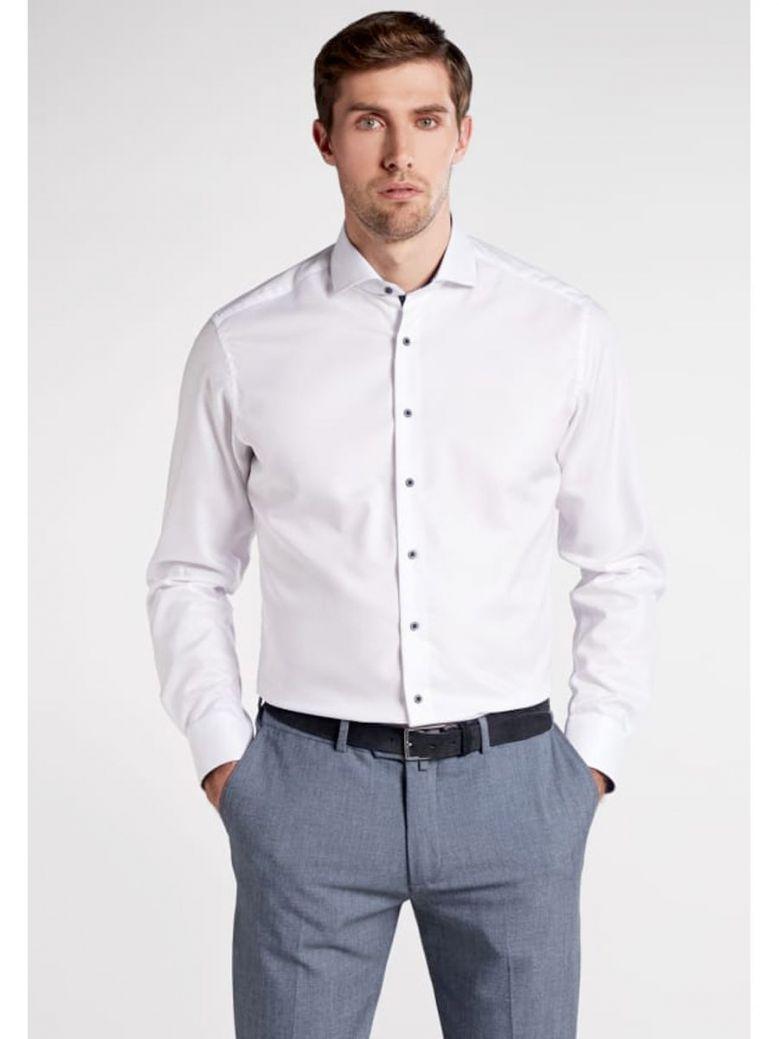 Eterna Modern Fit Button Shirt White