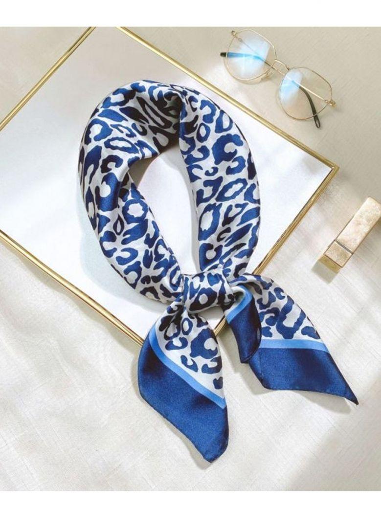 Cilento Woman Blue Printed Scarf
