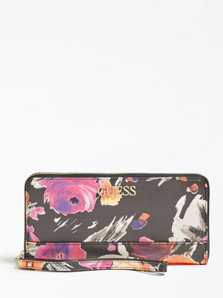 Guess Black Floral Dalma Maxi Wallet