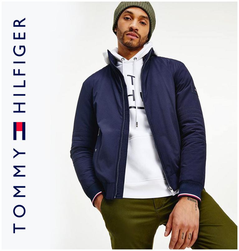 Tommy Hilfiger Flex Concealed Hood Filled Jacket Navy