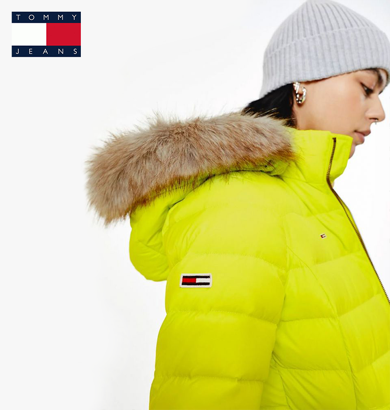 Tommy Jeans Hooded Down Jacket Green