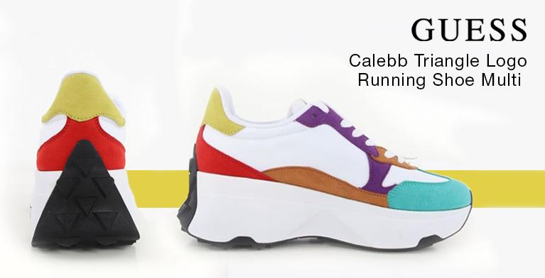 Guess Calebb Triangle Logo Running Shoe Multi