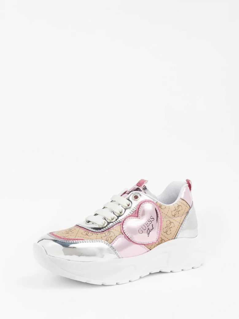 Guess Beige Claire 4G Logo Running Shoe