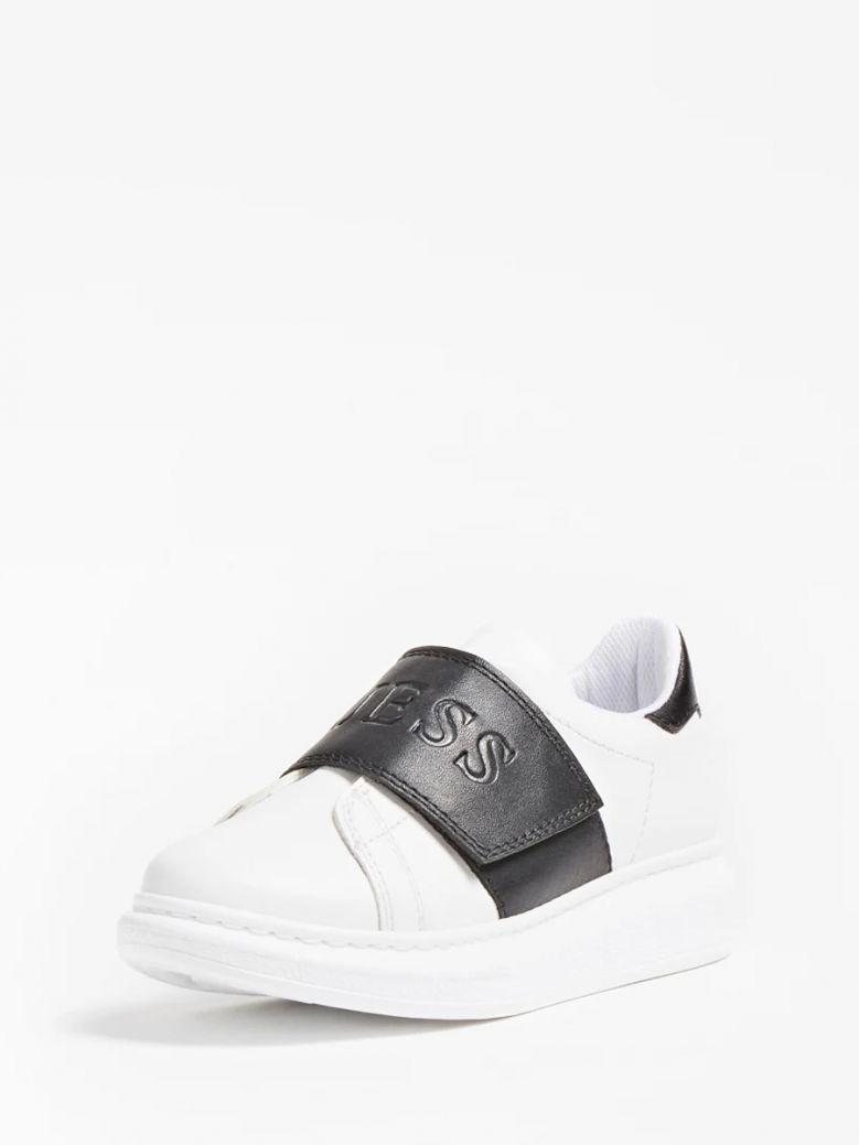 Guess Kids White New Idol Logo Sneaker