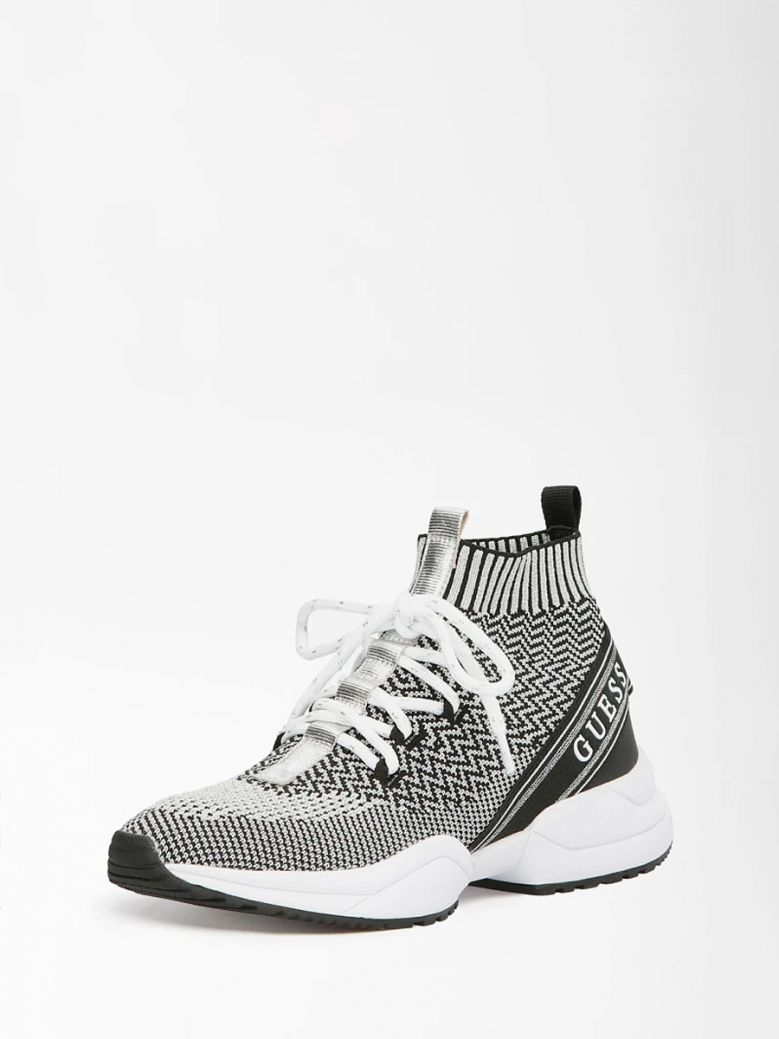 Guess Silver Brite Lace-Up Sneaker