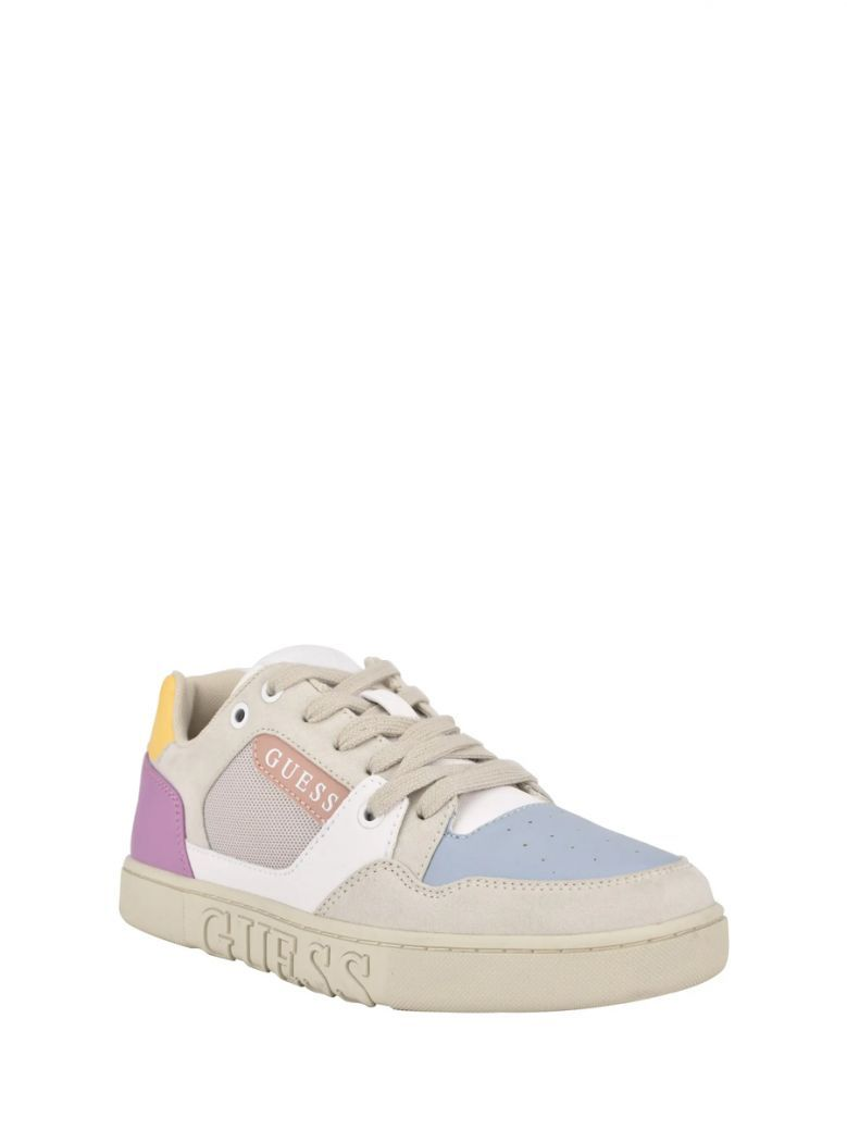 Guess Grey Multi Julien Sneaker with Laminated Insert