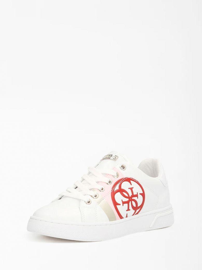 Guess White Reata 4G Logo Sneaker