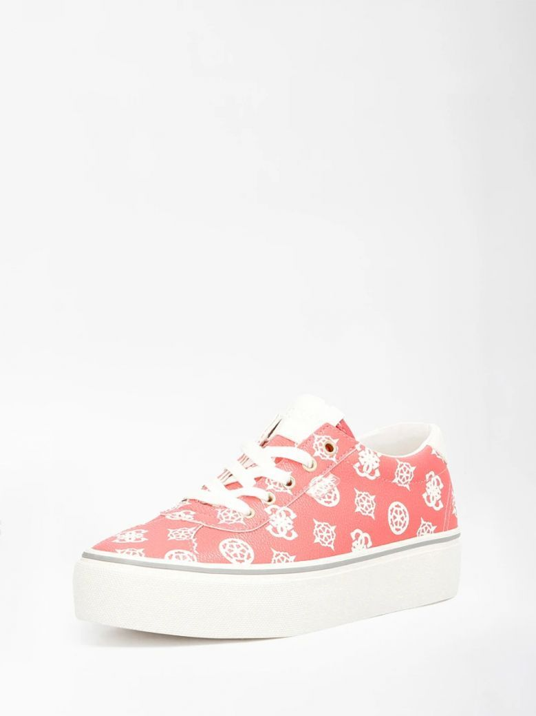 Guess Red Sanam 4G Peony Logo Sneaker