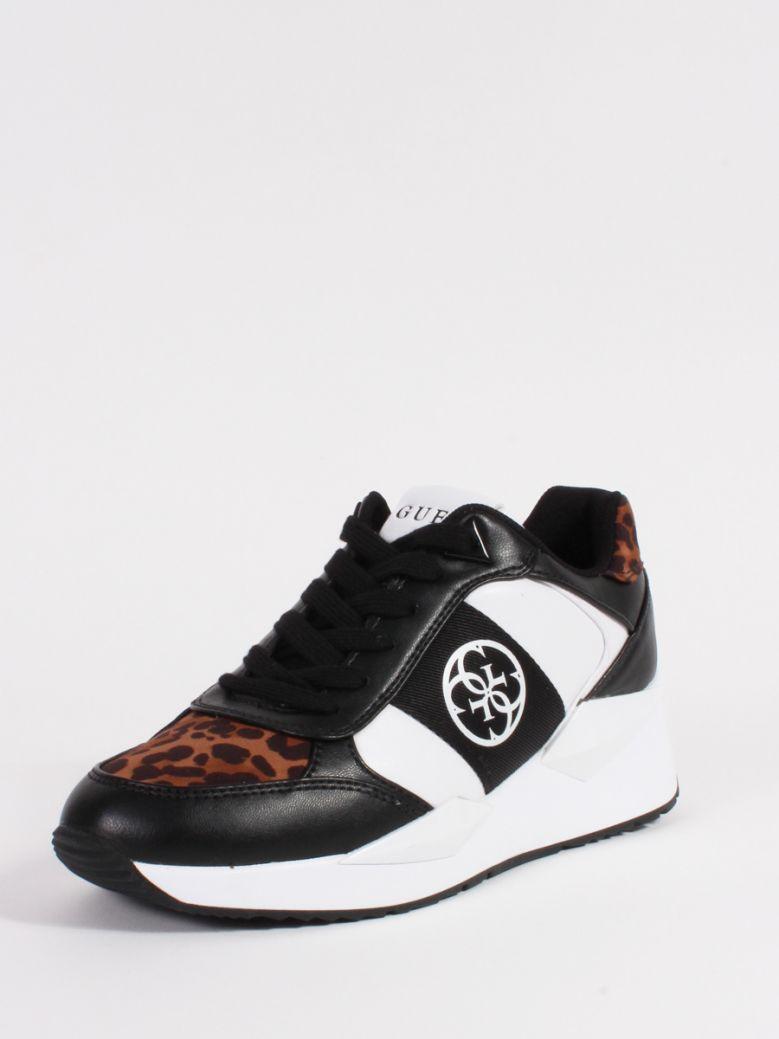 Guess White Black Tesha 4G Logo Sneaker