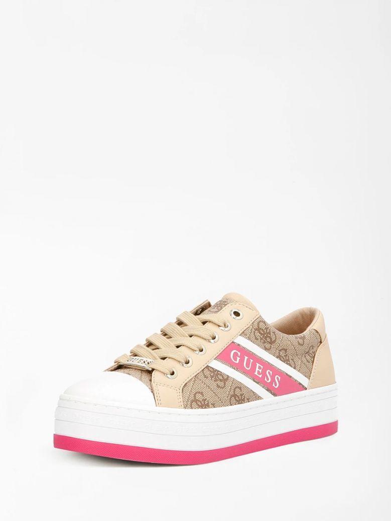 Guess Beige Barona 4G Logo Sneaker