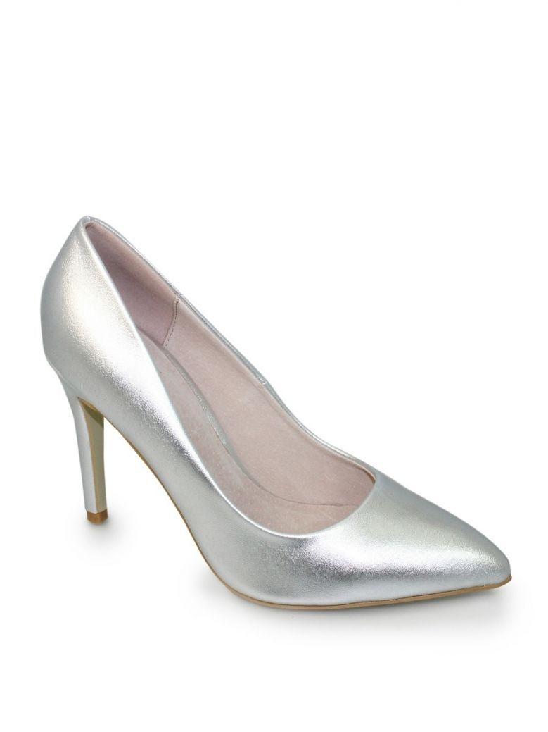 Lunar Silver Powell Stiletto Shoe