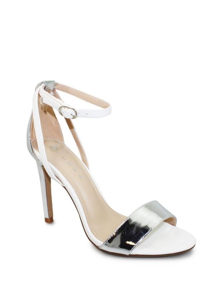 Lunar White Metallic Miami Heels