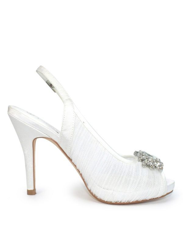 Lunar White Amalfi Peep Toe Sandal