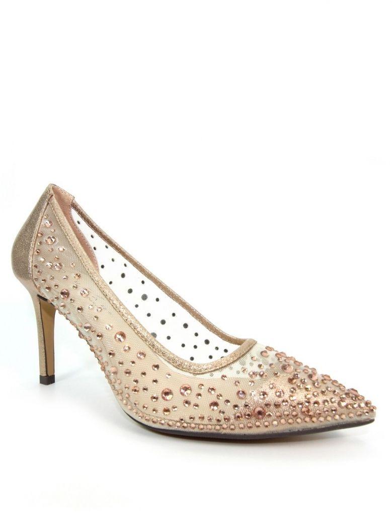 Lunar Rose Gold Argo Mesh Court Shoes
