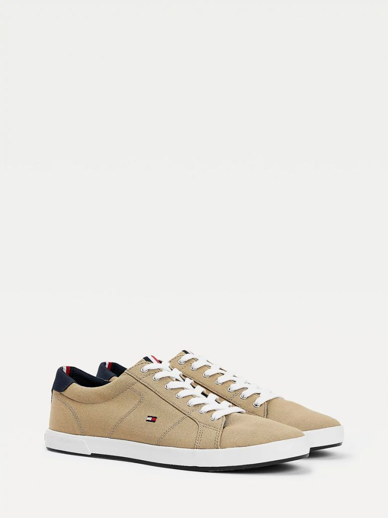 Tommy Hilfiger Men Camel Iconic Contrast Panel Trainers