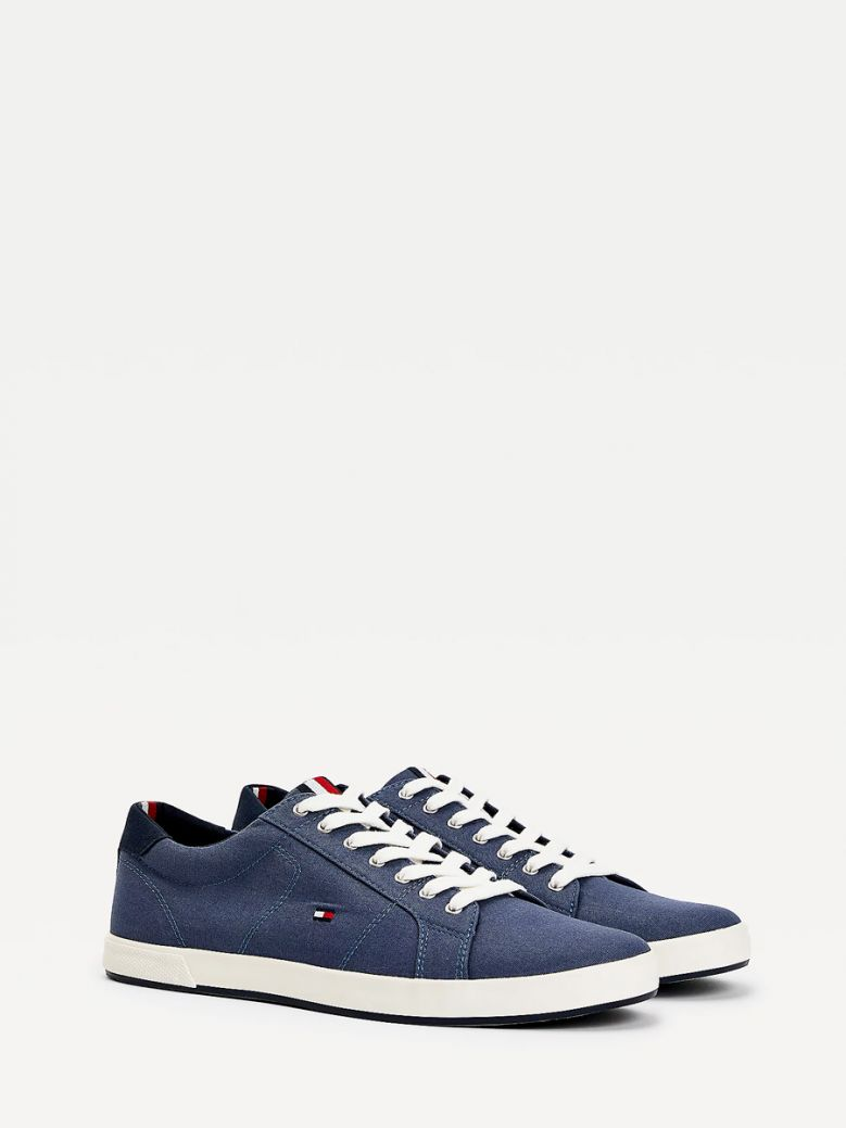 Tommy Hilfiger Men Faded Indigo Iconic Contrast Panel Trainers