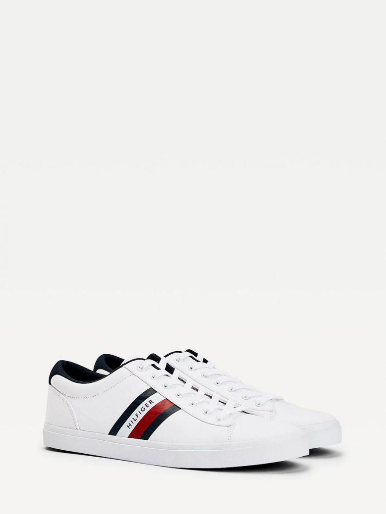 Tommy Hilfiger Men White Essential Pure Cotton Trainers