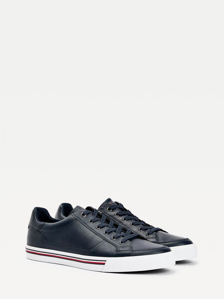 Tommy Hilfiger Men Desert Sky Signature Outsole Leather Trainers