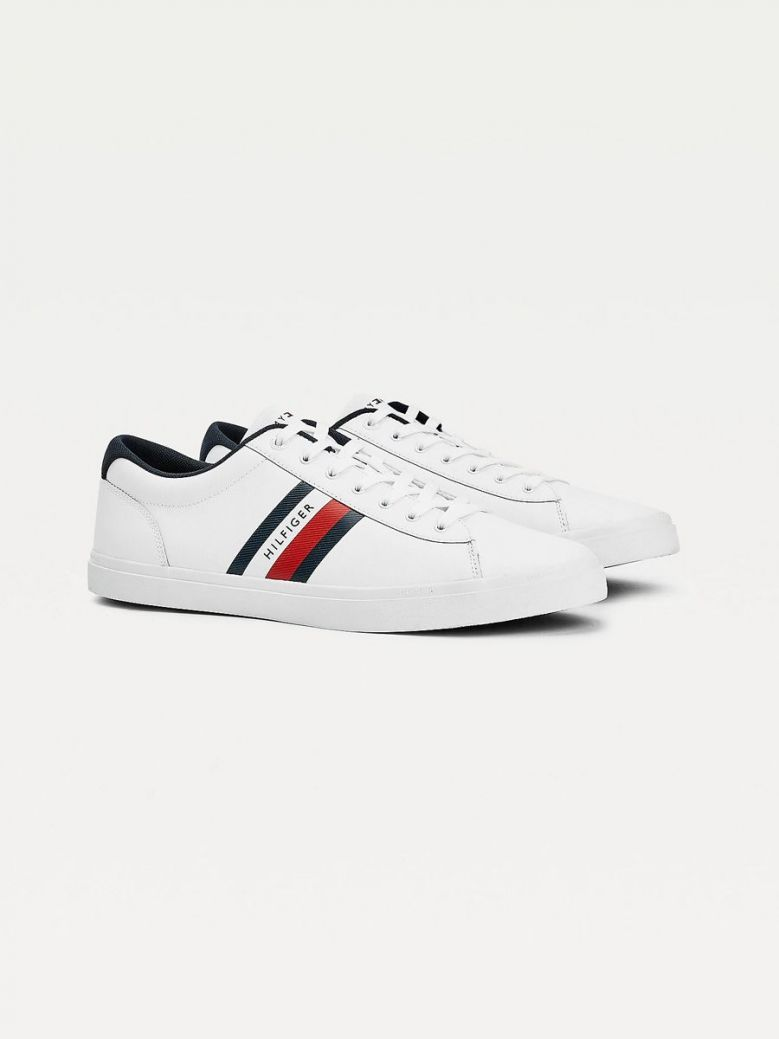 Tommy Hilfiger Leather Vulcanised Trainer White